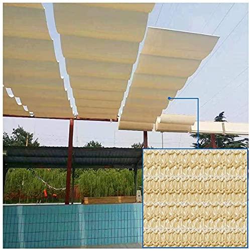 AWAING Malla Sombreo Extensible,Tela para SombraParasol con Forma de Onda Deslizante en el toldo de Alambre Tasa de sombreado 85% hidrofóbico Transpirable para pérgola de jardín UV Malla de Sombra(
