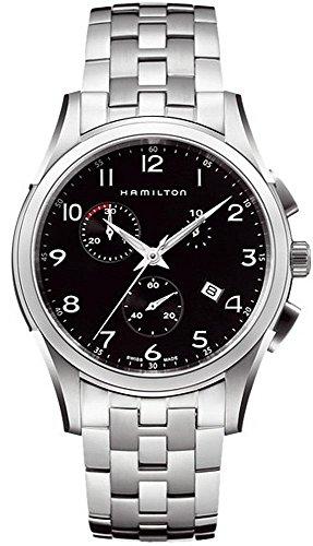 Hamilton Jazzmaster Thinline Chrono 42mm Negro Dial reloj de los hombres #H38612133