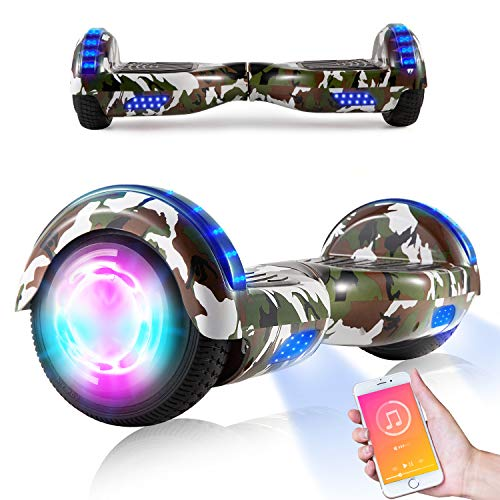 """Hoverboards, Scooter auto-équilibré de 6,5 \""""pour enfant, Scooter électrique Hoverboard Segway avec lumières LED Haut-parleur Bluetooth Roues clignotantes Meilleurs cadeaux pour enfants"""