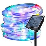 Guirnalda Luces Exterior Solar, Cadena de Luces 100 LEDs 39ft/12M LED, 8 Modos de Luz, Decoración para Navidad, Fiestas, Bodas, Patio, Dormitorio Jardines, Festivales