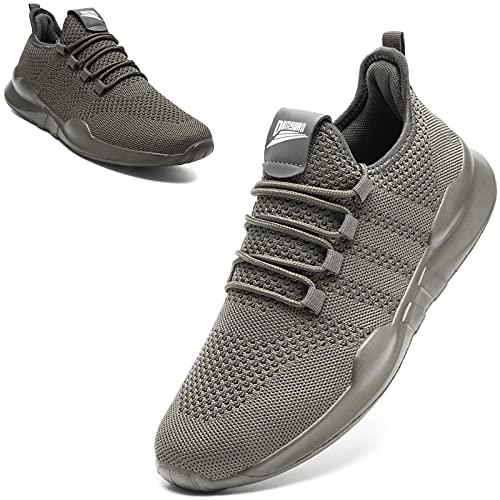 MGNLRTI Sneaker Herren Laufschuhe Outdoor Sportschuhe Joggingschuhe Straßenlaufschuhe Walkingschuhe Turnschuhe Fitness Schuhe,Grau,44 EU Schmal