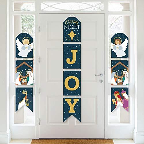 Big Dot of Happiness Holy Nativity - Hanging Vertical Paper Door Banners - Manger Scene Religious Christmas Wall Decoration Kit - Indoor Door Decor