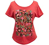 [Out of Print] Frances Hodgson Burnett/A Little Princess Relaxed Fit Tee [Puffin in Bloom] (Vintage Red) (Womens) Large