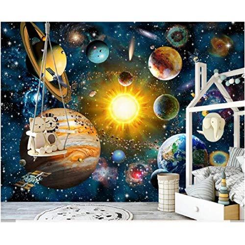 Newberli Custom Art Mural Wallpaper Photo Diy 3D De Alta Calidad Space Universe Wallpaper Para Kids Boys Bedroom Home Wall Decor