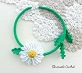 collar floral margarita en ganchillo