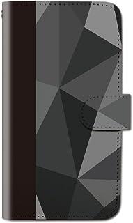 CANCER by CREE 手帳型 ケース FREETEL SAMURAI MIYABI ポリゴン グラフィック アート スマホ カバー dt001-00242-01 (1)ブラック FREETEL miyabi(雅):M