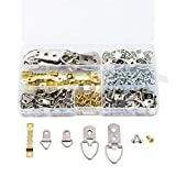 UrsoKuz 270 PCS Picture Hangers Sawtooth D-Ring Steel Heavy Duty Assorted Picture Hanging Kit with Screws, Picture Hanging Hardware for Paintings Photos Artwork & Home Décor