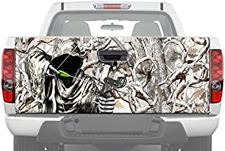 MotorINK Bow Reaper Obliteration Buck Snow Camo Hunting Tailgate Graphic Decal Sticker for Pickup Truck Ford Chevy Dodge (26