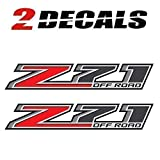 Z71 Offroad Truck Decals - 2014-2018 Bedside Stickers (Set of 2)