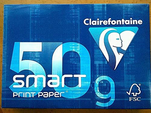 Clairefontaine Smart 1932, 500 Blatt, 50 g, DIN A4, Weiß, 6 Stück
