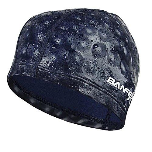 水泳キャップ 水泳帽 スイムキャップ 防水 スイミングキャップ PU塗装 水泳専門 伸縮性良い 男女適用 藏青