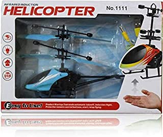 RC helicopter hand induction aircraft Sensor Rc Flying toy fly blue
