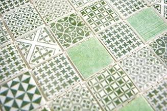 Carrelage r/étro vintage mosa/ïque ECO GLAS ECO beige patchwork MOS145-P-50/_m