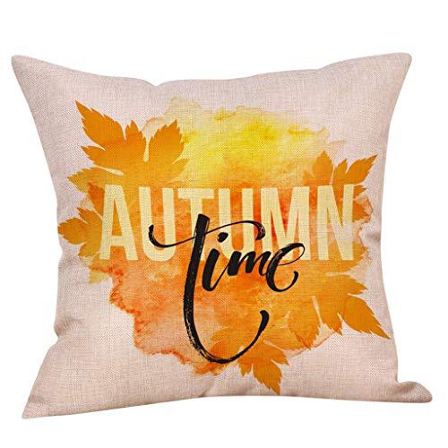 Komise Thanksgivin Autumn Dekokissenbezug Kissenbezüge Dekorative Sofakissenbezug 45cm x 45cm