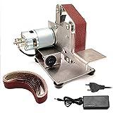 Amoladora multifuncional Mini lijadora de banda eléctrica DIY pulidora máquina de pulido cortador de bordes afilador
