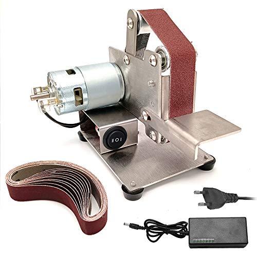Rantoloys Multifunktionsschleifer Mini Elektro-Bandschleifer DIY Polierschleifmaschine Schneidkantenschärfer