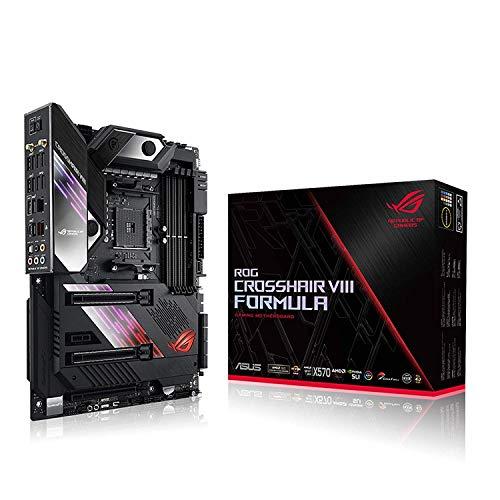 ASUS ROG Crosshair VIII Formula Gaming Mainboard Sockel AM4 (Ryzen 3000 kompatibel, ATX-, PCIe 4.0, DDR4, Aquantia 5G Lan, USB 3.2, Aura Sync)