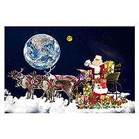 大人のための数字によるDIYペイント子供のための数字でクリスマスペイントの数字の数字8-12女の子初心者初心者クリスマスホームルームの装飾フレームレス、サンタクロース (Size : 50x60cm)