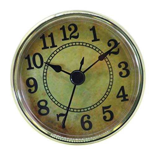 P Prettyia Quarzuhreinsatz Uhrwerk Einsteckuhrwerk Einbau-Uhr Quarz Uhrwerk, Arabische Ziffer