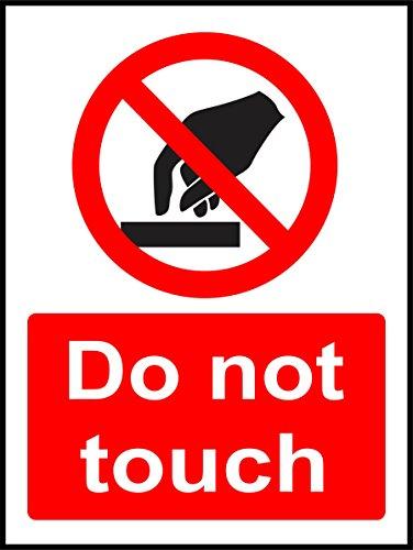 Label - Sécurité - Avertissement - Panneaux d'interdiction Ne pas toucher Panneau de sécurité 20x15cm - bureau, entreprise, école, hôtel