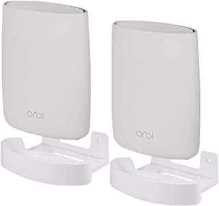 for Orbi Home WiFi Wall Mount Holder by HOLACA, Wall Ceiling Bracket with Holder Set for Netgear Orbi RBK50 AC3000, RBS50,...