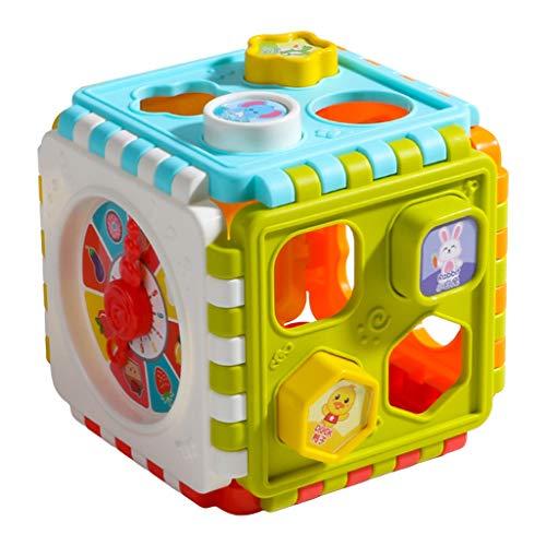 Nobranded Cubo de Actividad para Bebés Juguetes para Niños Pequeños Clasificador de Formas Juguetes Centros de Juego para Actividades para Bebés Juego Divertido