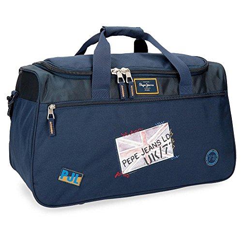 Pepe Jeans Scarf Bolsa de Viaje, 52 cm, 43.73 litros, Azul