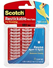 Scotch - Mini pegatinas reutilizables (72 unidades, 12,7 x 12,7 mm)
