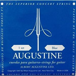 Augustine Satz Klassikgitarrensaiten, blau, High Tension