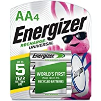 4-Count Energizer Rechargeable AA Batteries