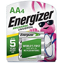 in budget affordable Energizer rechargeable battery AA, NiMH, 2000 mAh, precharge, 4 pcs.  (Universal charging) –…