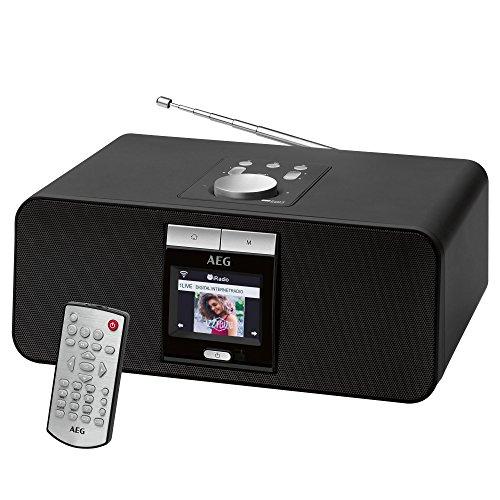 AEG IR 4468 BT Internet-Stereoradio Bluetooth USB-Anschluss PLL-RDS-UKW Radio Fernbedienung Weckfunktion schwarz