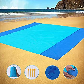 Sand Free Beach Blanket Large/Oversized Outdoor Picnic Mat Waterproof Quick Drying Ripstop Nylon Compact Sandproof Beach Blanket for Camping Hiking Fishing Travel XL,10 X9