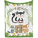 FWU Squirrel Blanket for Kids, Squirrel Throw Blanket for Boys Girls and Adults, Cozy Soft and Warm Squirrel Baby Blanket for Newborn Infant and Toddler (Fleece - 30'x40')