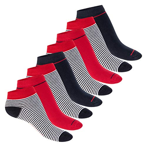 Footstar Damen Motiv Sneaker Socken (8 Paar), Kurze süße Söckchen mit Mustern - Mehrfarbig 39-42