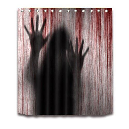 OUNONA Badezimmer Duschvorhang mit blutigen Handprints 3D-Badezimmer Duschvorhang 150x 180cm