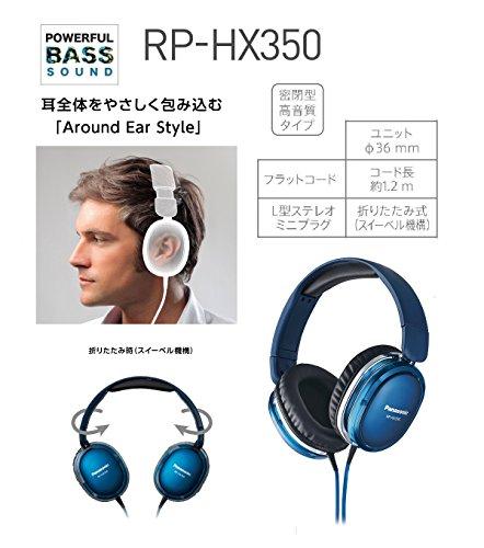 パナソニックステレオヘッドホンブルーRP-HX350-A