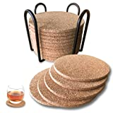 Coasters for Drinks Cork Coasters for Wooden Table Wood...