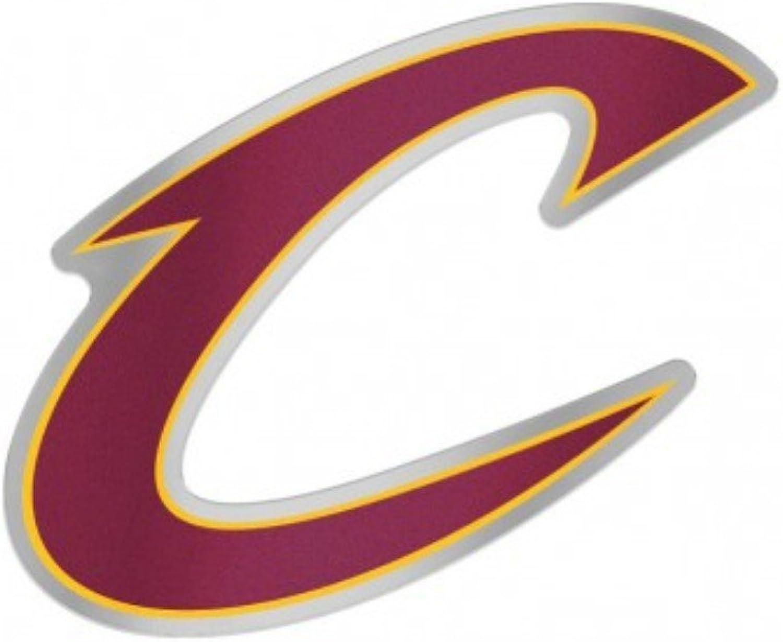 Cleveland Cavaliers Team Logo NBA Chrome Plastic color Decal Emblem