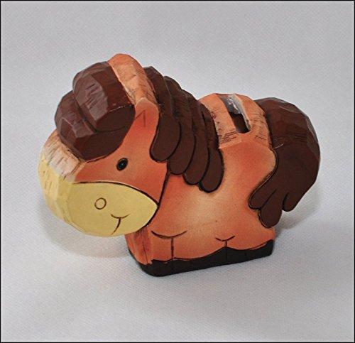 Zelda Bomboniere Hucha Animal rústico cm 11(Caballo)