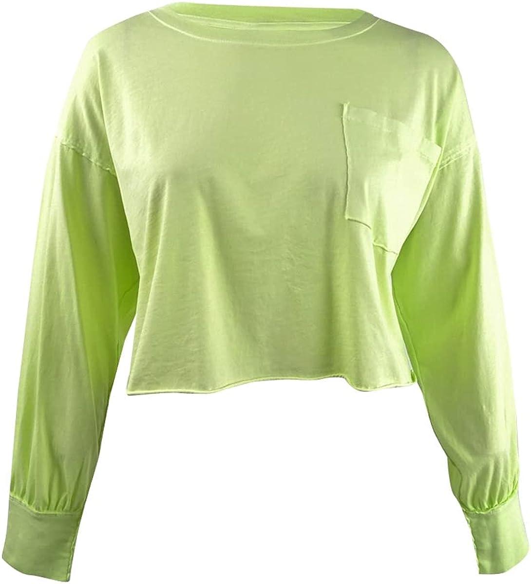 Free People Women's Austin Long Sleeve Shirt Yellow L