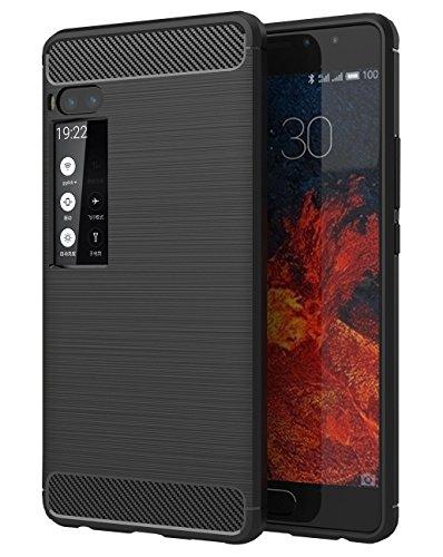 COPHONE® Meizu Pro 7 Plus Hülle rutschfest Carbon Fiber Case Schwarz Meizu Pro 7 Plus Weiche Schutzhülle, hohe Schutz, stoßfest.