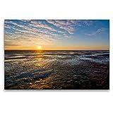 Premium Textil-Leinwand 120 x 80 cm Quer-Format Morgen am