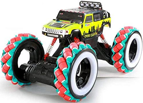 Julykai Desarrollar sabiduría Bigfoot Monster Climbing Trcuk 360 ° Rotating Drift Stunt Car 2.4G Detección de Gestos Control Remoto Car 4WD Off-Road para Adultos Regalos-Amarillo