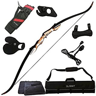 Samick Sage Takedown Recurve Bow Bundle with: Summit Archery Deluxe Bow Package (Finger Tab, Armguard, Quiver, Rest, Bow Stringer, and Bow Case) REG: $259.99