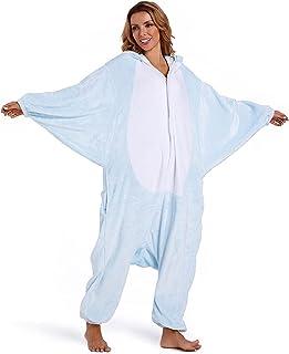 OLAOLA イッカク 着ぐるみ パジャマ 動物 大人用 部屋着 コスチューム パーティー もふもふ 暖かい 部屋 防寒 対策 ルームウェア 可愛い フランネル 男女兼用 S