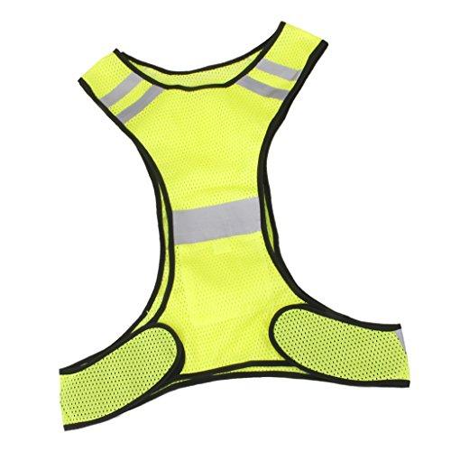 Chaleco de seguridad reflectante para deportes al aire libre, de MagiDeal. Amarillo