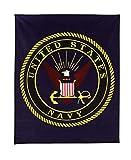 Rothco Military Insignia Fleece Blankets, 50' x 60', Navy