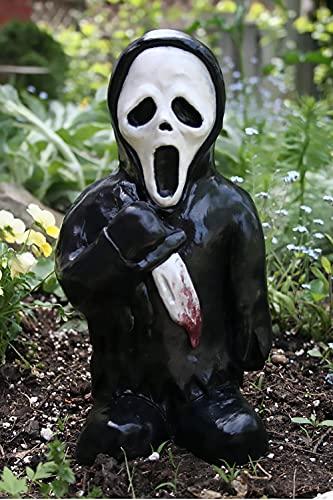 Horror Movie Garden Gnomes-Misteriosa Scultura di cadavere Morto Che Cammina, Decorazione della Statua di Zombie Nani raccapriccianti per Una Scena da Giardino Unica (Ghost)