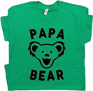 Papa Bear T Shirt Best Grateful Dad Ever Tee Worlds Okayest for Daddy Deadhead Hippie
